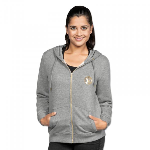 Veste de sweater du BVB, basique, pour femmes, dégradé de gris