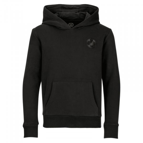 BVB Hoodie black on black for kids