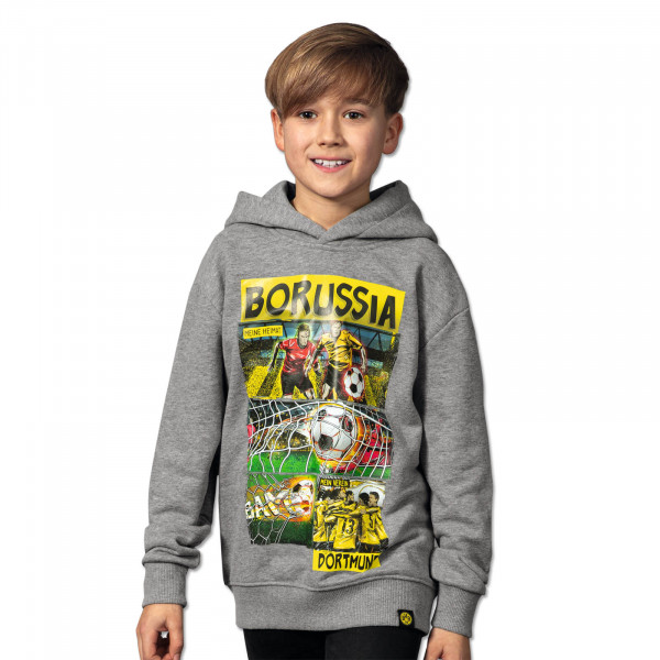 BVB MHMV Comic Hoodie for Children Grey