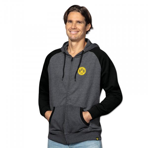 BVB basic sweat jacket men black-grey