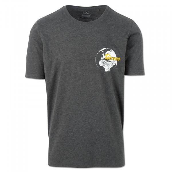 BVB T-Shirt Globe Anthra Mel.
