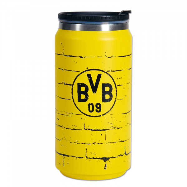 Taza termo de café para llevar del BVB en amarillo 350ml