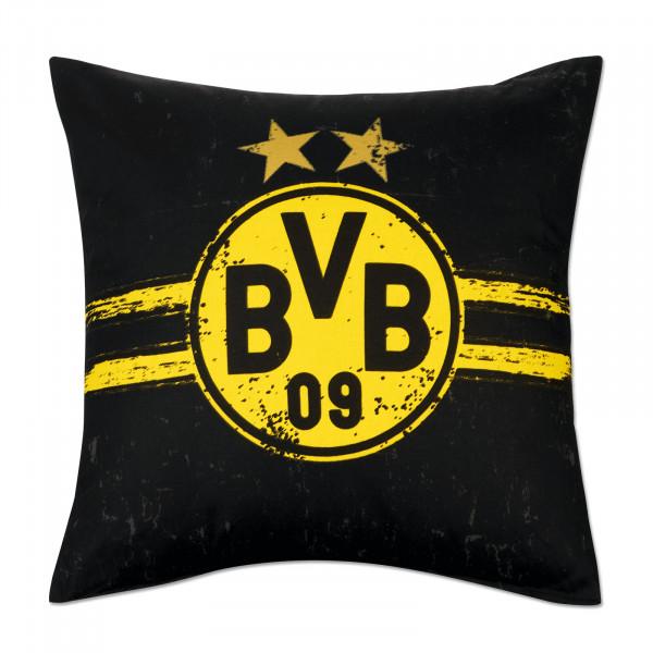 """Coussin BVB """"Manger. Dormir. Borussia. Répéter"""""""