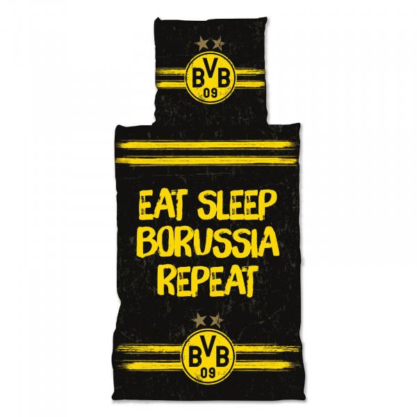 "BVB Bed Linen ""Eat. Sleep. Borussia. Repeat"""