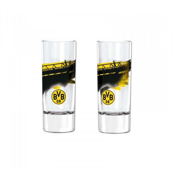 """BVB shot glass """"Südtribüne"""" (set of 2)"""