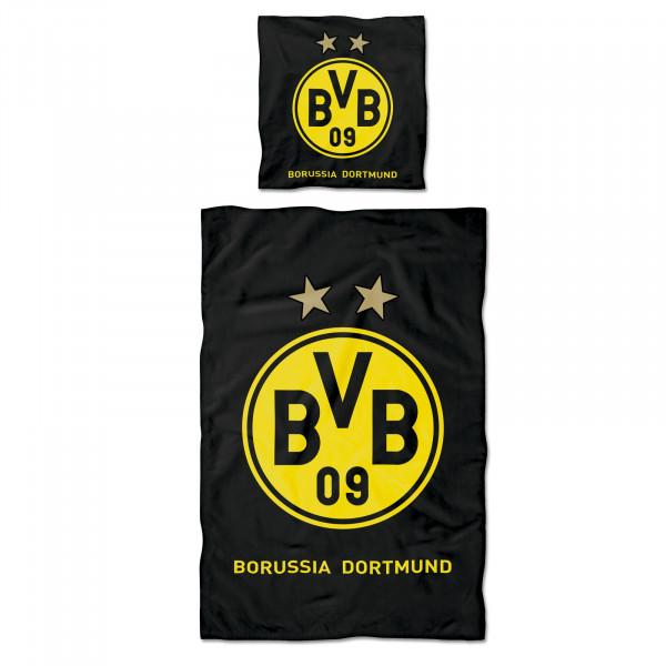 """BVB bed linen """"Logo"""" (135 x 200 cm)"""