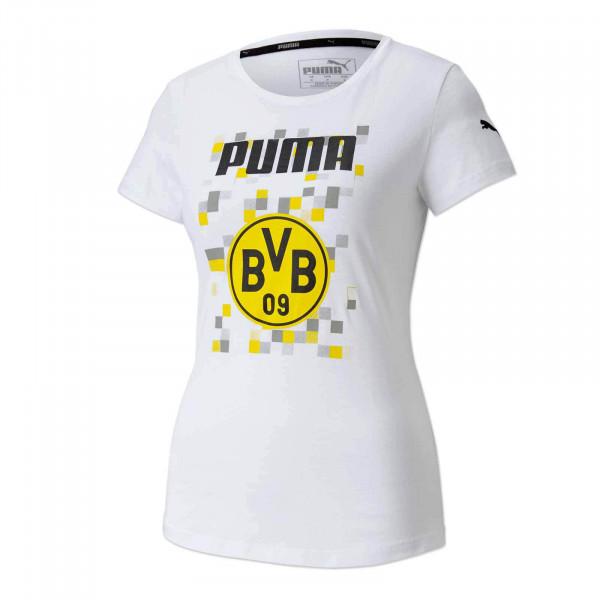 T-Shirt BVB Football Core 20/21, pour femmes, (blanc)