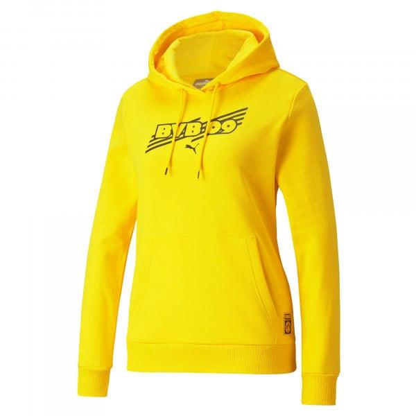 BVB Hoodie Ftbl Core (Yellow) for Women