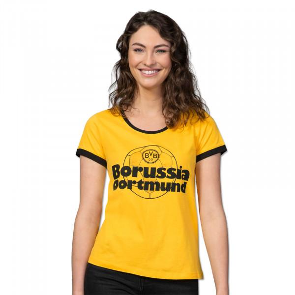 T-shirt BVB rétro jaune pour femme