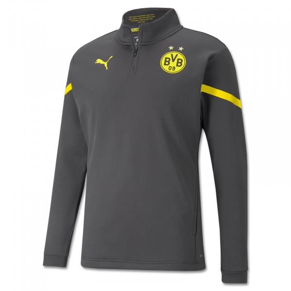 BVB Pre-Match Zip Shirt (Asphalt)