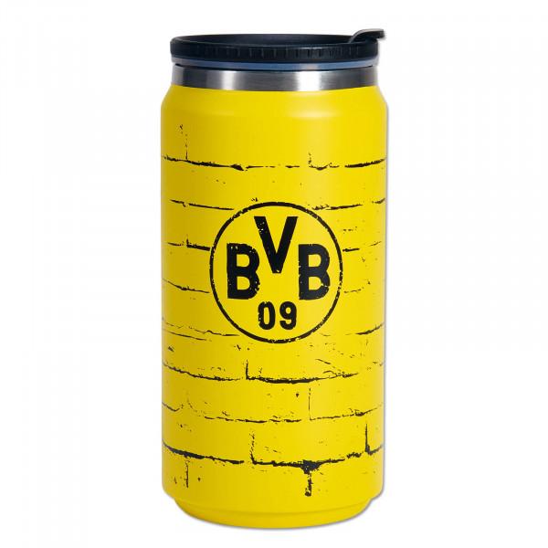 Tasse thermo à emporter BVB, paroi jaune, 350 ml