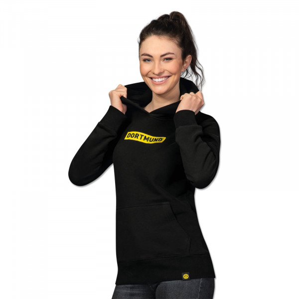 "BVB hooded sweatshirt ""Box Logo"" for women (black)"