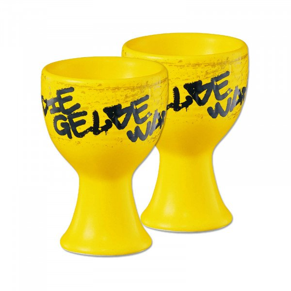 """BVB egg cup """"Gelbe Wand"""" (set of 2)"""