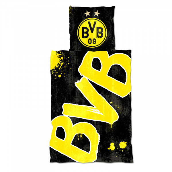 "BVB bed linen ""Glow in the Dark"" (135 x 200 cm)"