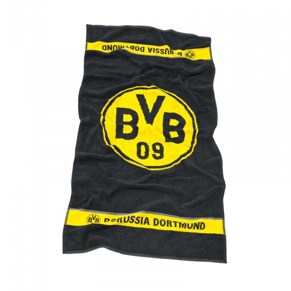 Serviette de douche BVB avec emblème 70x140 cm