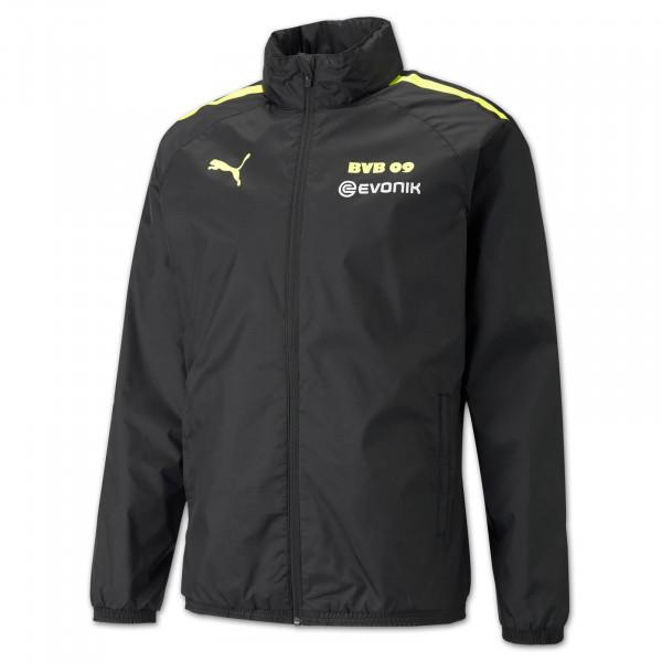 BVB training rain jacket 21/22 (black-neon)