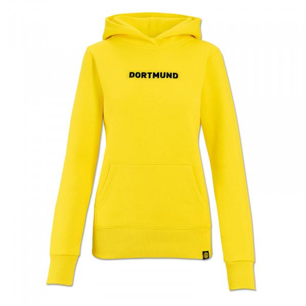 "BVB hooded sweatshirt ""Box Logo"" for women (yellow)"