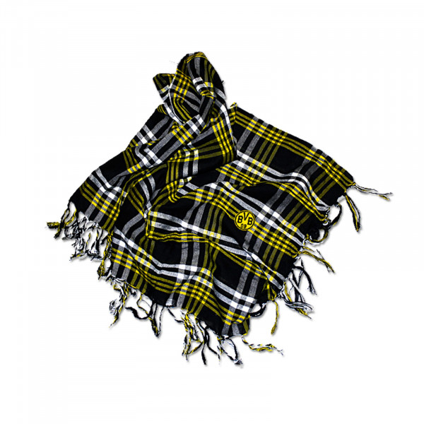 BVB Scarf with Checked Pattern