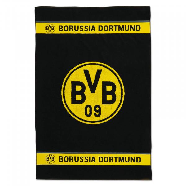 Serviette de bain BVB avec emblème 100x150 cm