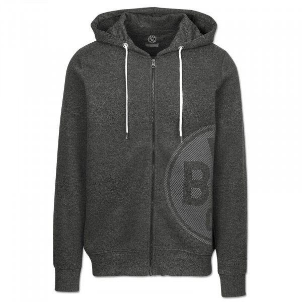 BVB Men's Sweat Jacket, Basic+, anthra mel.
