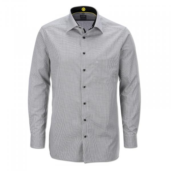 BVB Shirt (Checked, Modern Fit)
