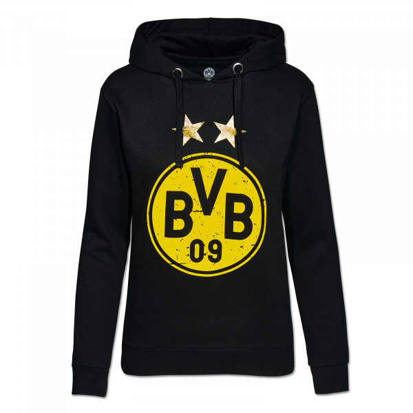 BVB hooded sweatshirt with logo for women