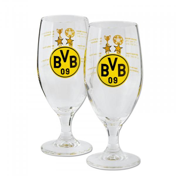 "BVB pils glass ""Trophies"" (set of 2)"