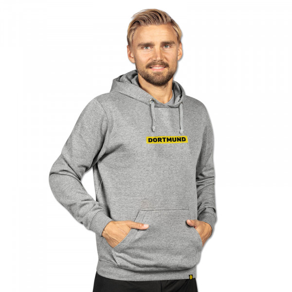 BVB BOX LOGO Hoodie for Men (Grey)