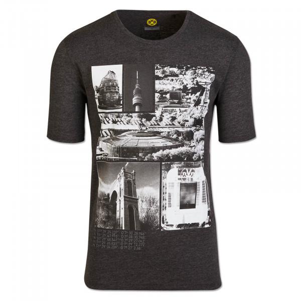 BVB T-shirt Cityscape Men, Grey Melange