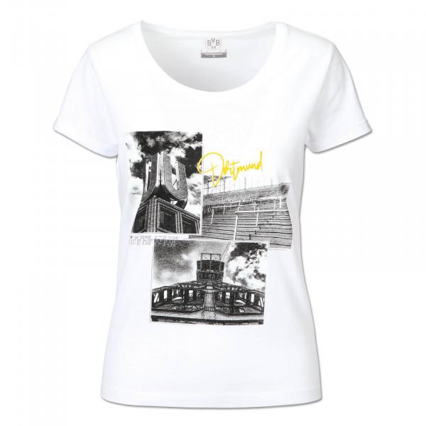 BVB T-Shirt Cityscape for Women, White