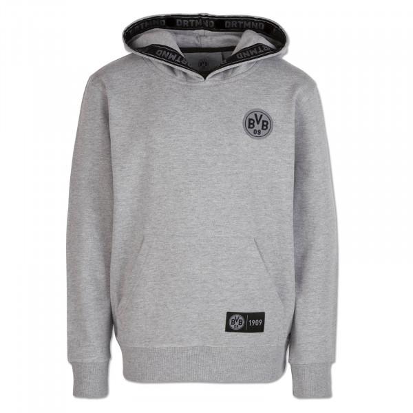 Sweater à capuche BVB DRTMND pour enfants, dégradé de gris