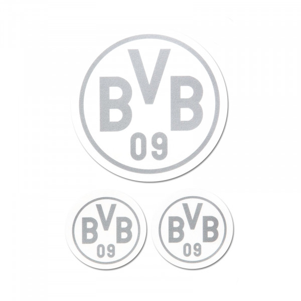BVB sticker (silver, set of 3)
