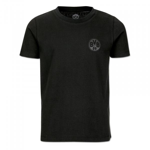 BVB T-Shirt black on black for kids