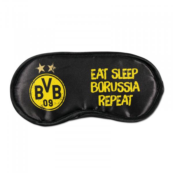 "BVB Sleep Mask ""Eat. Sleep. Borussia. Repeat"""