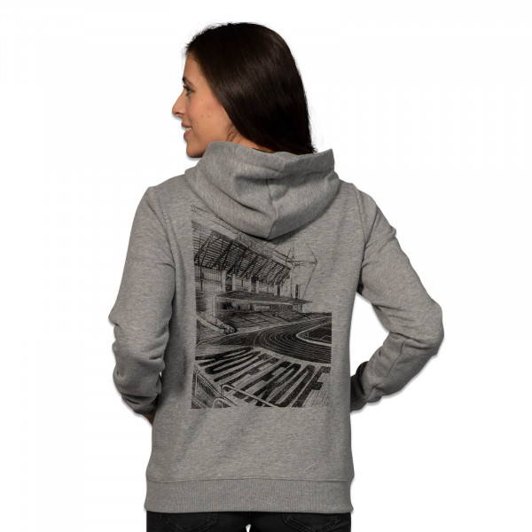 BVB Women's Hoodie Grey