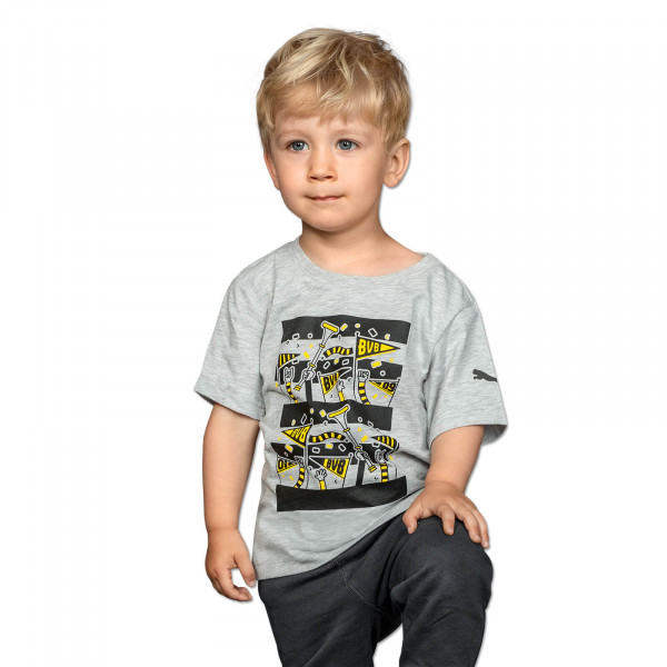 BVB T-Shirt with Fans for Kids (Grey)