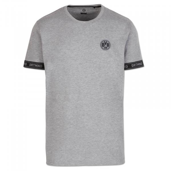 T-Shirt BVB DRTMND pour hommes, dégradé de gris