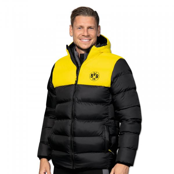 Veste d'hiver BVB jaune et noire pour hommes