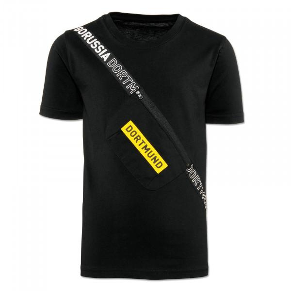 带挎包的多特蒙德 Box Logo 儿童 T 恤