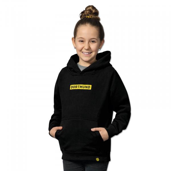 BVB BOX LOGO Hoodie for Kids Black