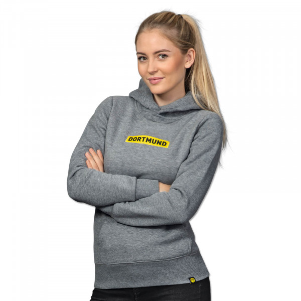 "BVB hooded sweatshirt ""Box Logo"" for women (grey)"