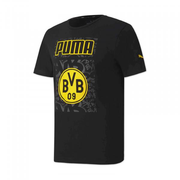 T-shirt BVB Football Core 20/21 pour enfants (noir)