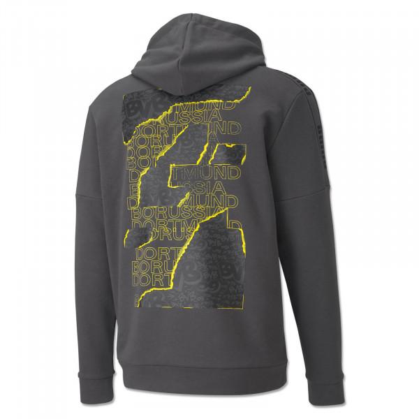Sweater à capuche BVB Football Culture 20/21 (gris)