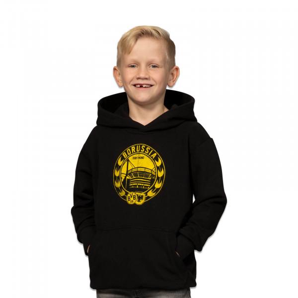 Sudadera con capucha del BVB en negro para niños