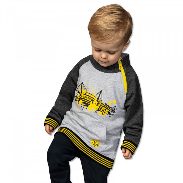 BVB raglan pullover with zip