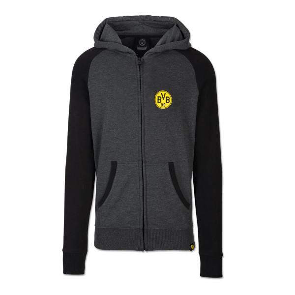 BVB basic sweat jacket children black-grey