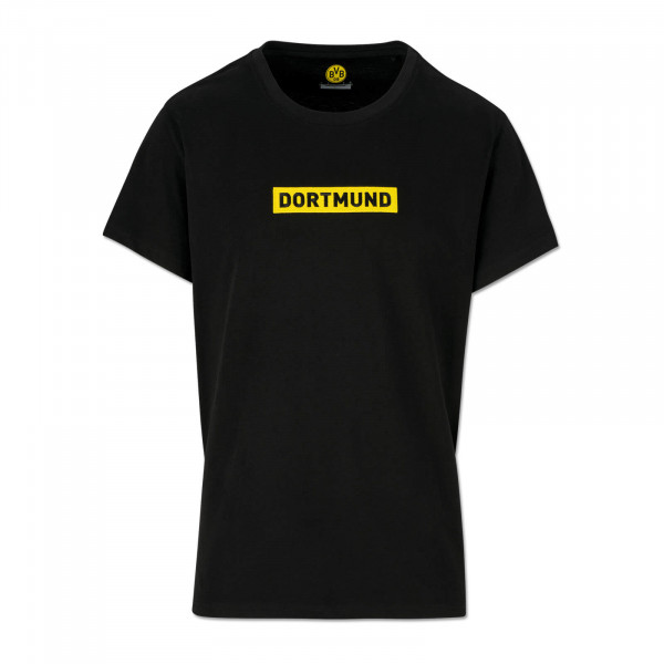 BVB LOGO T-SHIRT BLACK FOR CHILDREN
