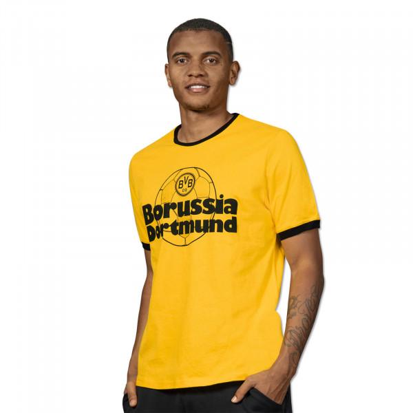 T-shirt BVB rétro jaune pour homme