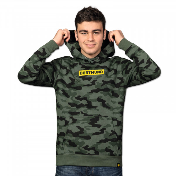 "BVB hooded sweatshirt ""Box Logo"" for men (camouflage)"
