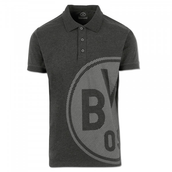BVB Men's Polo Shirt Basic+, anthra mel.